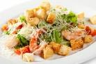 """Салат """"Цезарь"""" с морепродуктами"""