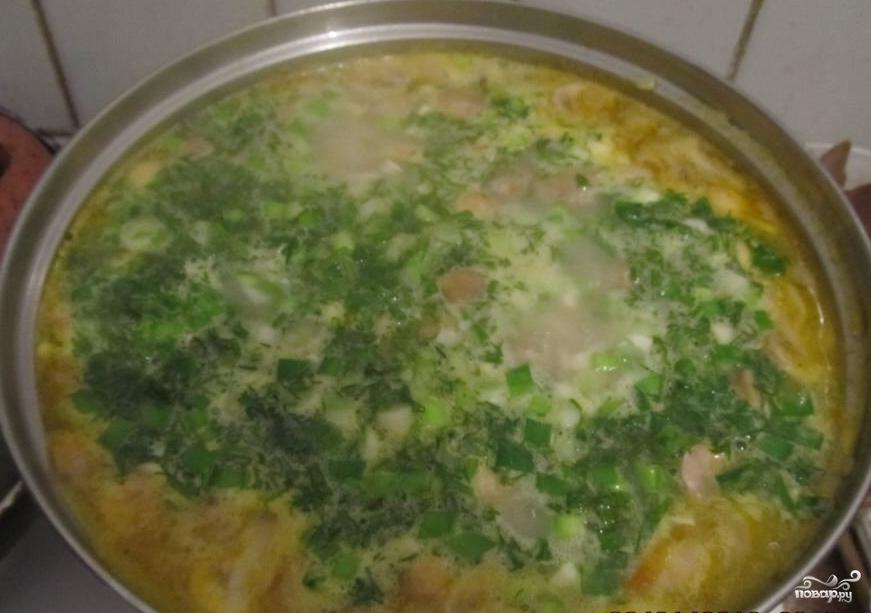 Суп из замороженных подберезовиков