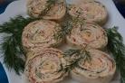 Рулет из лаваша с творожным сыром