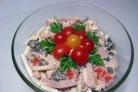Салат с колбасой и грибами