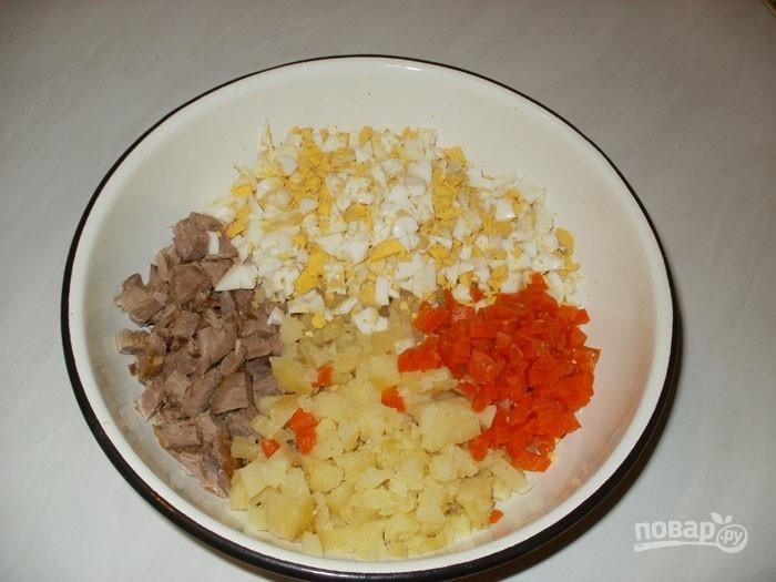 """Салат """"Столичный"""" с мясом"""