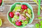Салат из кальмара с огурцом