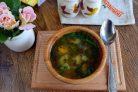 Суп из щавеля на курином бульоне
