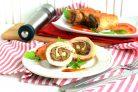 Рулеты из филе индейки с печенью и арахисовой пастой