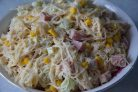 Салат с ветчиной и кукурузой