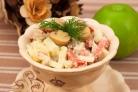 Салат из картофеля и грибов