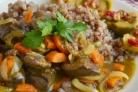 Говяжья печень тушеная с луком и морковью