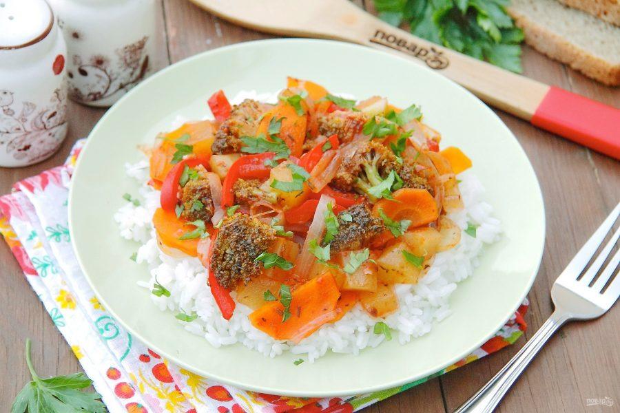 Овощи с рисом