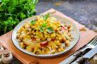 Крабовый салат Новинка с сухариками