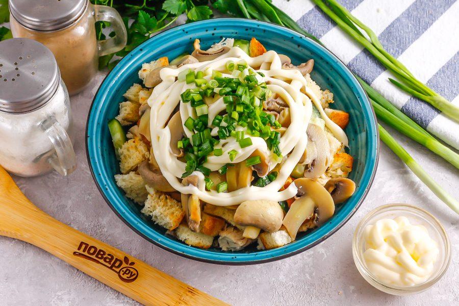 Французский салат с грибами