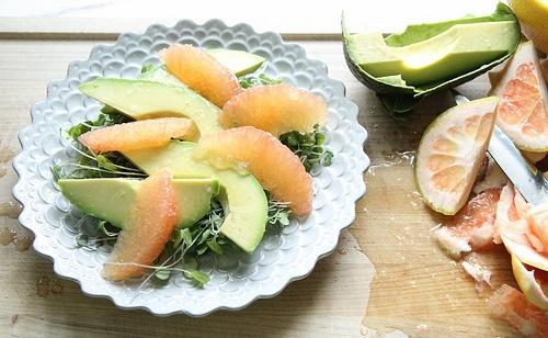 Салат крабовый с апельсинами