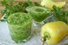 Зеленый коктейль с перцем