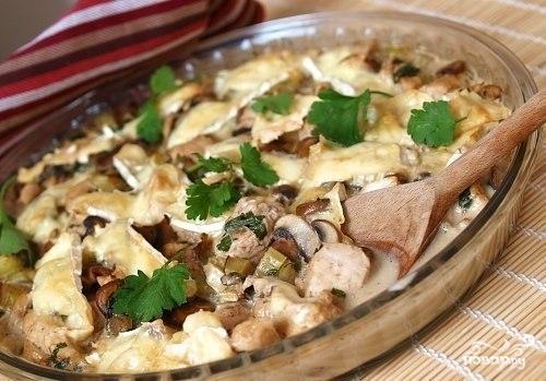 филе курицы с грибами на сковороде рецепты с фото