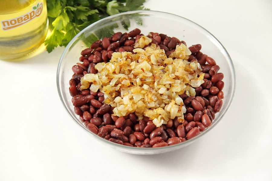 Салат с фасолью без майонеза