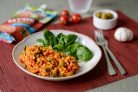 Рис с каперсами, оливками и кетчупом Махеевъ Томатный без сахара и крахмала