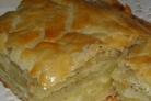 Картофельный пирог из слоеного теста