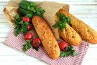 Французский хлеб с ветчиной