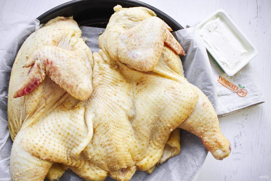 "Курица с сыром в духовке ""Жар птица"""