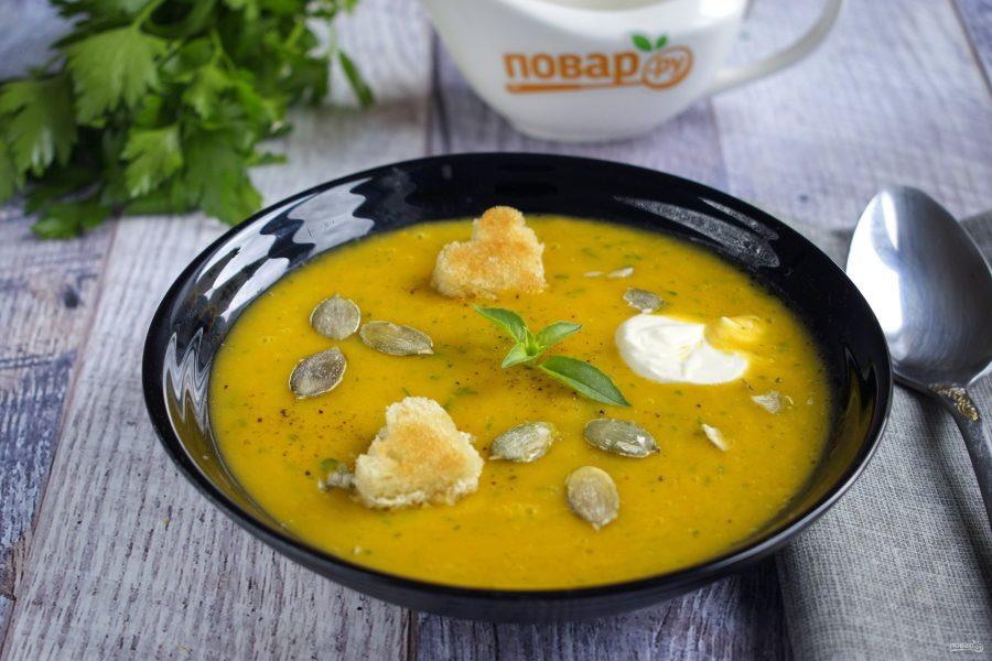 Тыквенный суп с картофелем и морковью