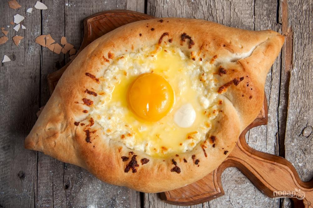 Грузинская кухня: хачапури с яйцом
