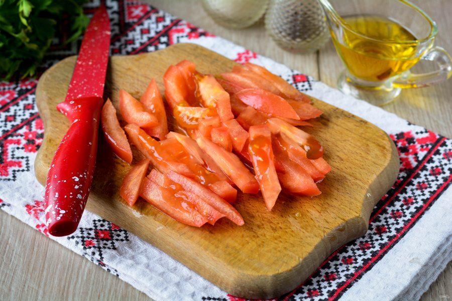 Овощной салат с пекинской капустой