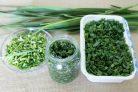 Зелень чеснока на зиму