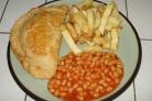 Пирог с сыром, луком и картофелем