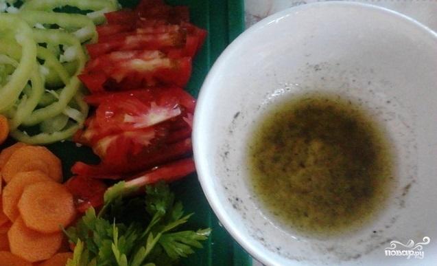 Голец с овощами