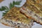 Быстрый пирог с консервированной рыбой
