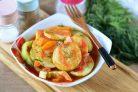 Овощи тушеные в томатном соусе