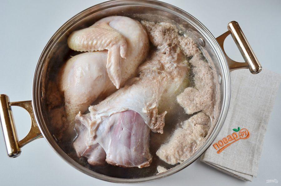 Домашний холодец из говядины и курицы