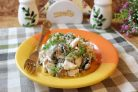 Салат Жареные грибы