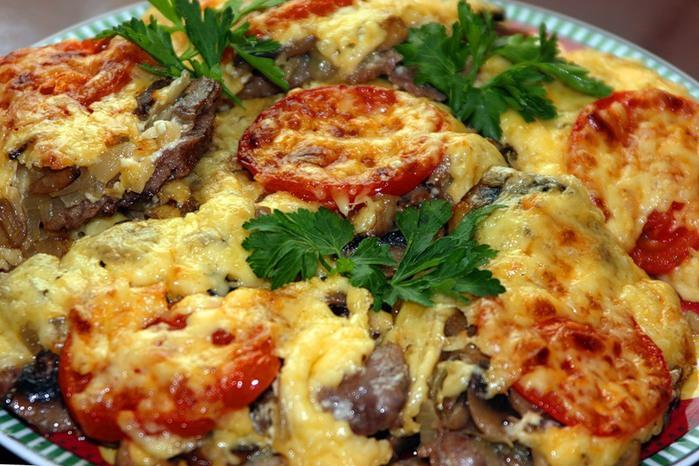 Свинина в духовке с грибами - пошаговый рецепт с фото на Повар.ру