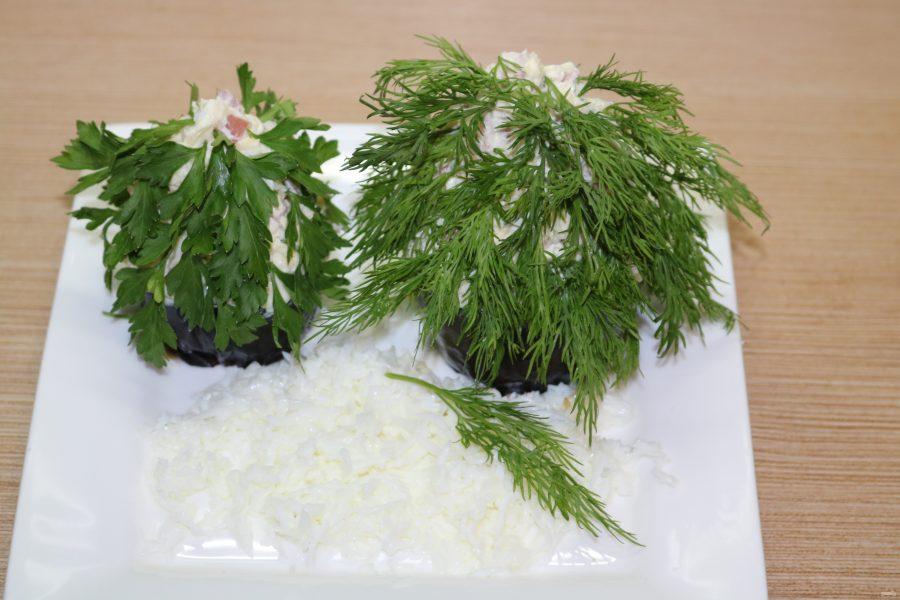 Порционный салат на Новый год