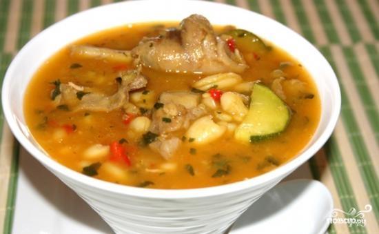 суп харчо с рисом и картошкой рецепт с фото #13