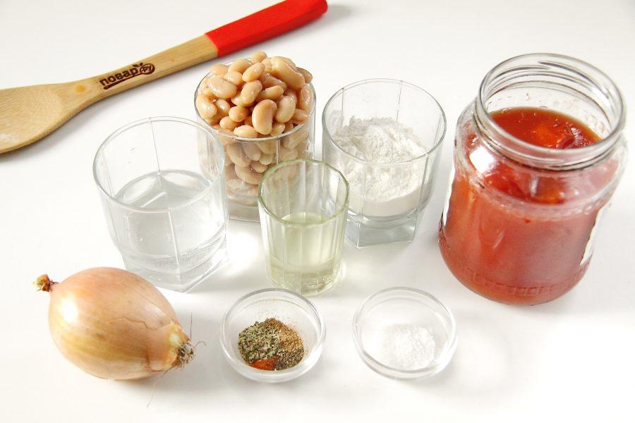 Ингредиенты для клецок из фасоли