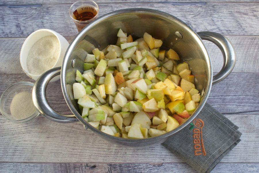 Яблочное желе с мятой