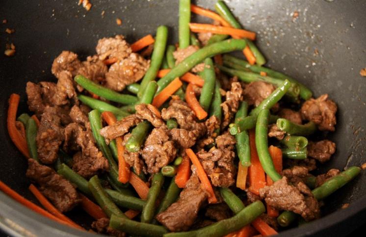 говядина с стручковой фасолью рецепт с фото