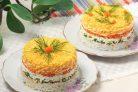 Салат Мимоза (рецепт с рисом)