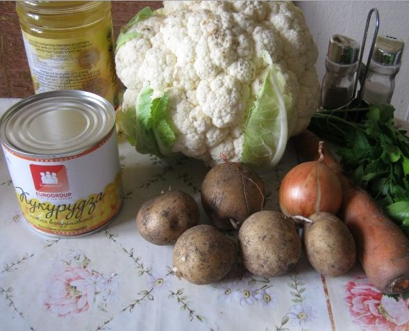 Вегетарианский суп из капусты