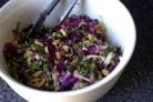 Салат с капустой и арахисом