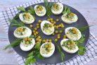 Яйца фаршированные зеленью