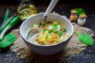 Суп с лапшой и капустой
