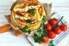 Очень простые сырные лепешки