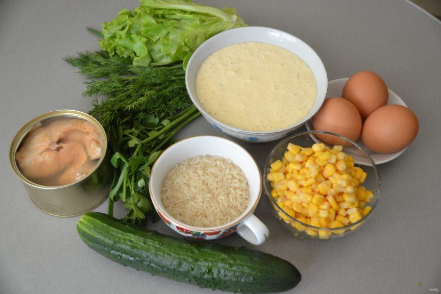 Салат с горбушей