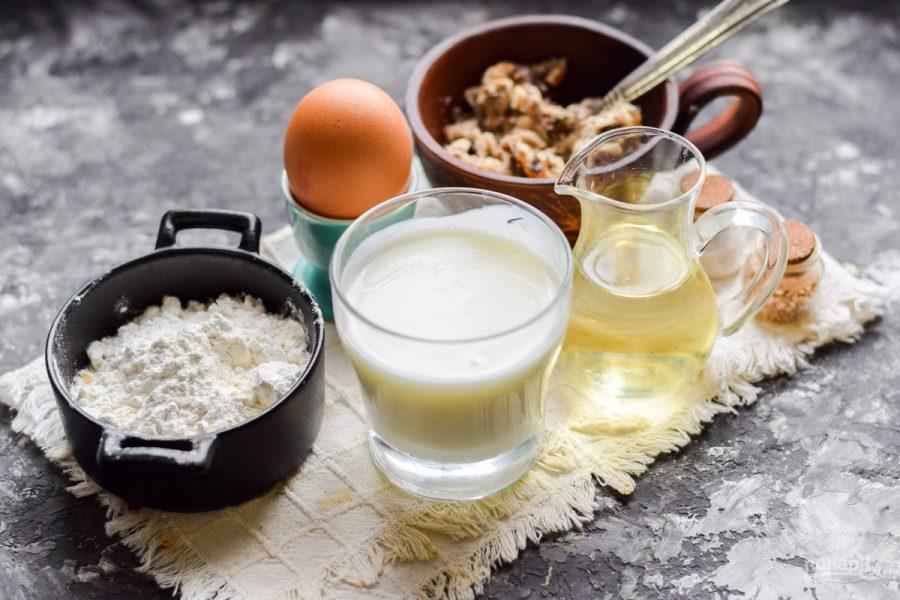 Ингредиенты для блинов с сайрой