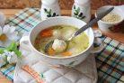 Суп с пшеном и фрикадельками