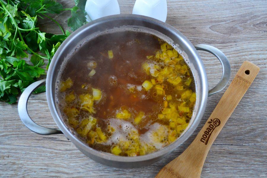 Суп пюре из гречки