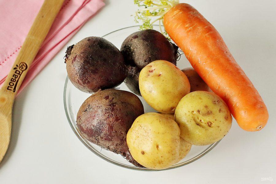 Овощи в микроволновке для винегрета
