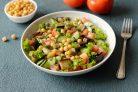 Салат из баклажанов и нута